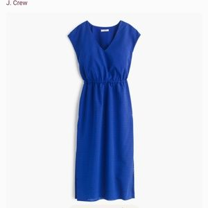 J Crew drapey perforated dress